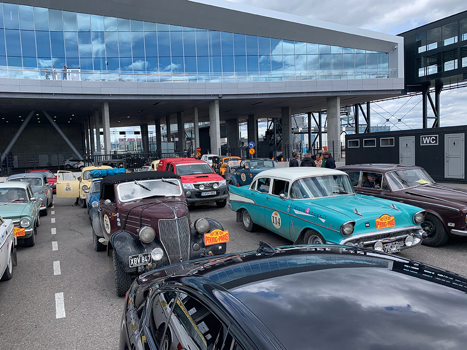 The Cars on the Ferry