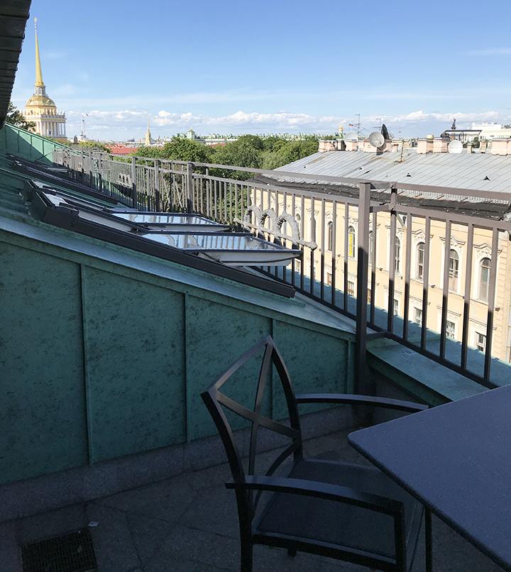 View of St. Petersburg from the hotel balcony